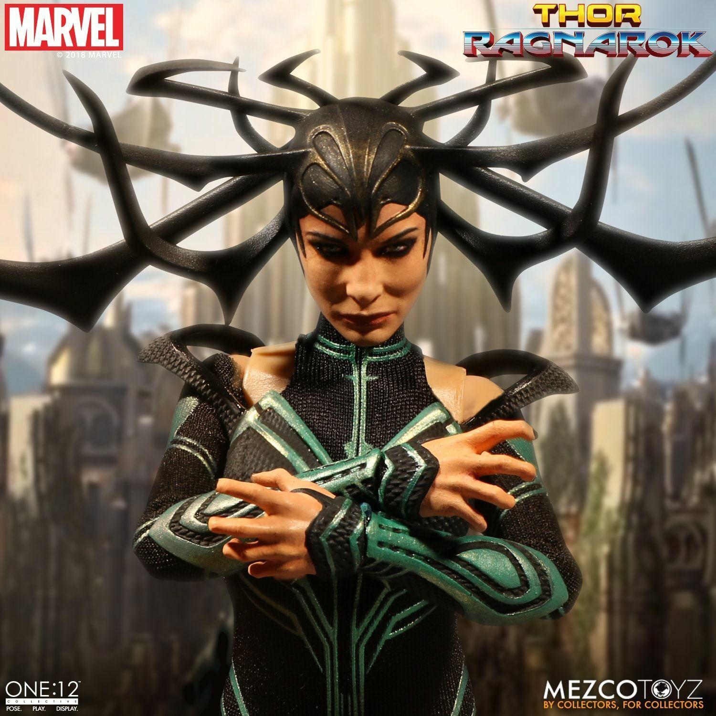 Uno  12 Colección Marvel Thor  Ragnarok Hela 6  Figura de Acción Mezco en Stock
