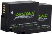 2x Premium Akku Patona Für Panasonic Lumix Dmc-g70m , Dmcg70h / Dmw-blc12e
