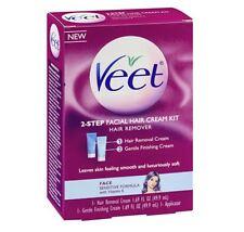 VEET 2-Step Facial Hair Cream Kit, 1 kit