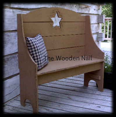 Primitive Star Hall Bench Pattern/Plan WN121