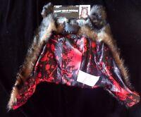 Brown Black Scary Bear Hoodie Adult One Size Halloween Fun Wear Winter