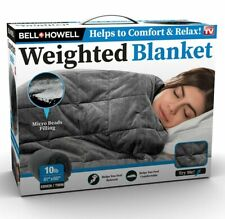 As Seen on TV Weighted Blanket with Glass Beads Filling for Calmer Deeper Sleep!