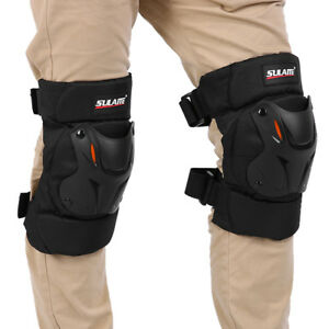 Motocross-Motorcycle-Racing-Kneepad-Knee-Pads-Sets-Armor-Protective-Guard-Black