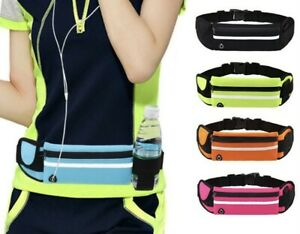 Caprilite Unisex Running Belt Sport Reflective Phone Keys Water Bottle Holder Water Resistant Bum Bag Waist Waistpack UK
