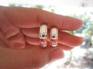 Two Tone Gold Wedding  Ring 14K codeWR64 (MTO) sepvergara
