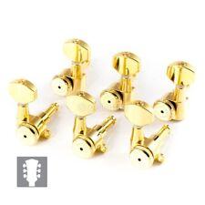 Hipshot 6K3EL0G Locking PRS Upgrade Kit Mini Tuners Closed-gear 3x3 - Gold
