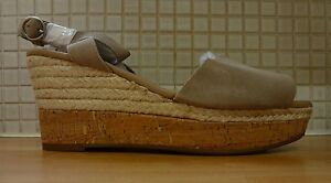 Marks & Spencer Stain Away Suede Peep Toe Espadrilles 8/42 BNWT RRP £43 Grey
