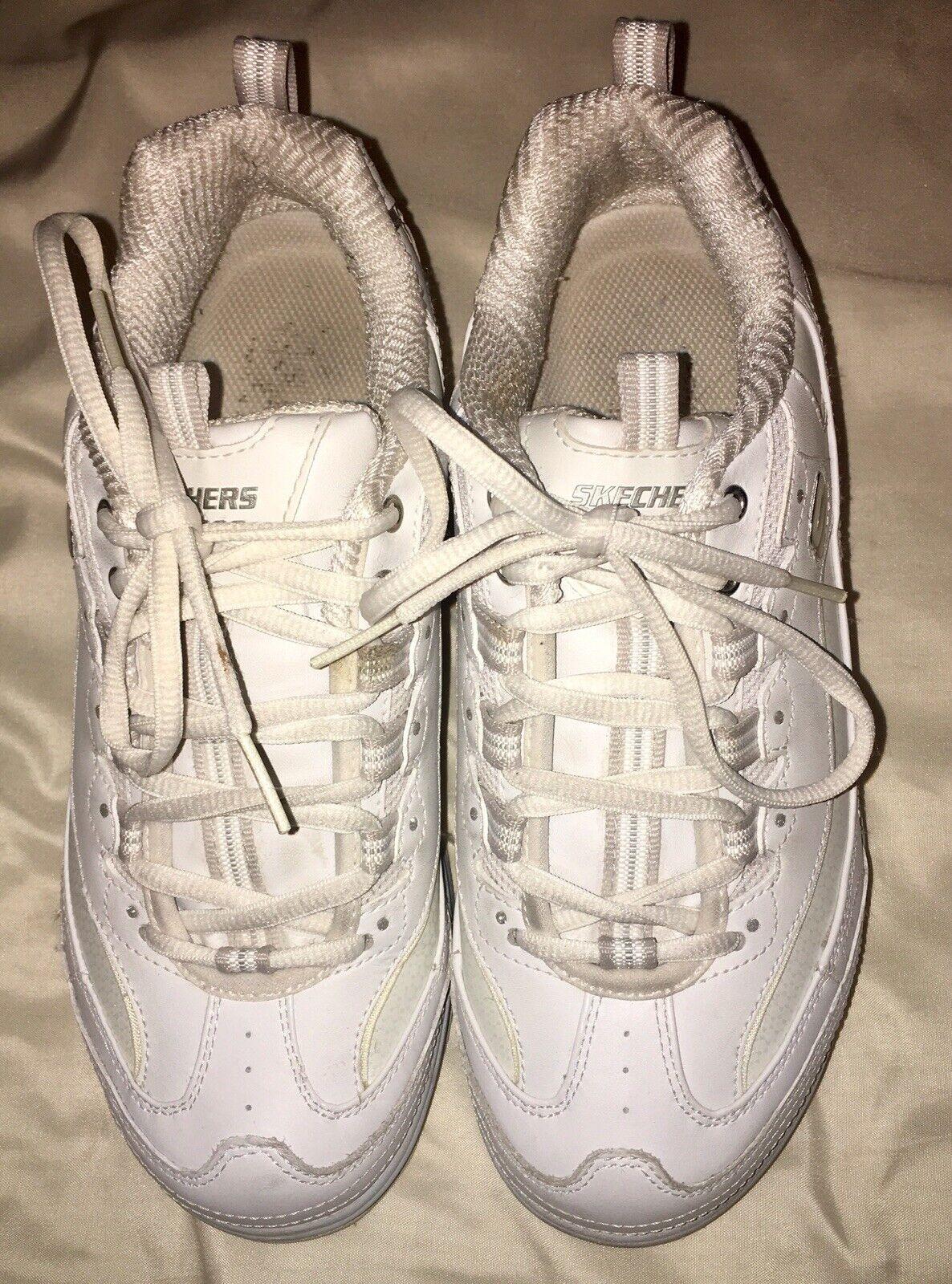 Sketchers Womens Size 8 Shape Ups  White Silver 11800 Walking Toning shoes