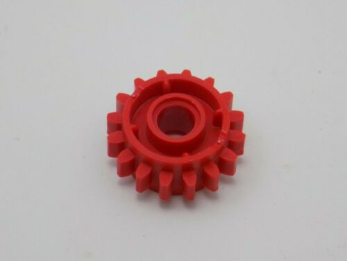 8 Pieces 8 LEGO Technic Red Gear Wheel Z16 Tooth w Clutch on Both Sides 18946