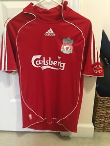 Details about 20062008 Adidas Liverpool FC Home Red Adult Small Jersey
