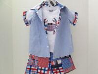 Boy's Crab 3-piece Shorts Set By Mud Pie, Size 9-12 Months,