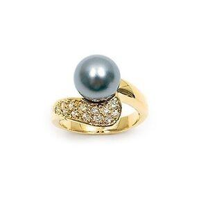 Dolly-Bijoux Femme Bague T60 Pavé de Diamant Cz Plaqué Or 18K 5 Microns