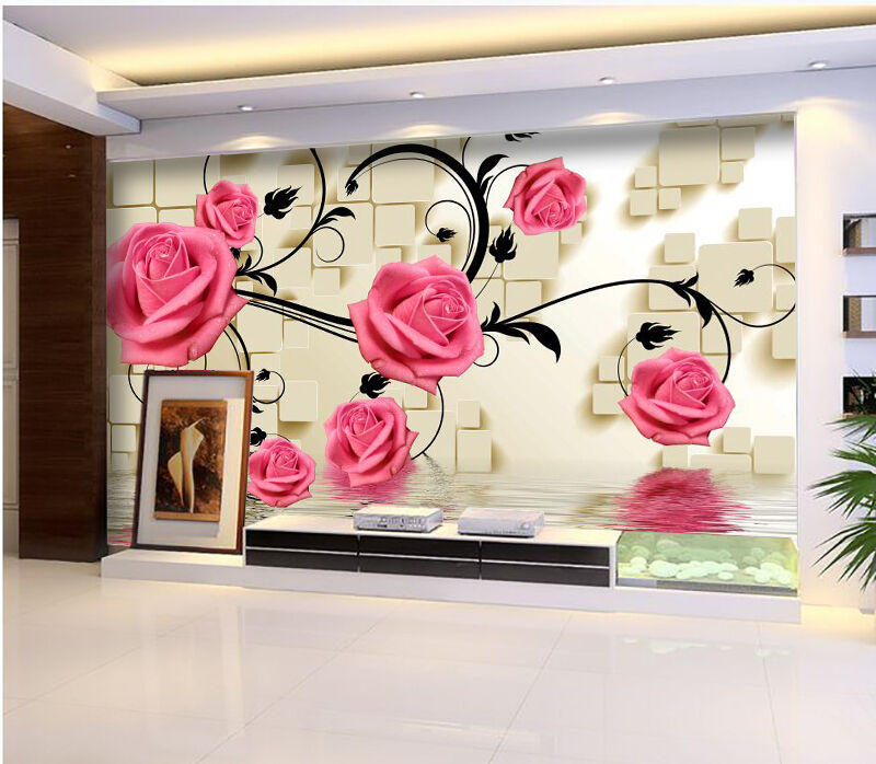 3D Flower water 434 Wall Paper Wall Print Decal Wall Deco Indoor Wall Murals