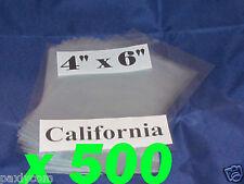 Lot Of 500 Pieces Heat Shrink Wrap Film Flat Bags 4x6 Candles Pvc 4 X 6