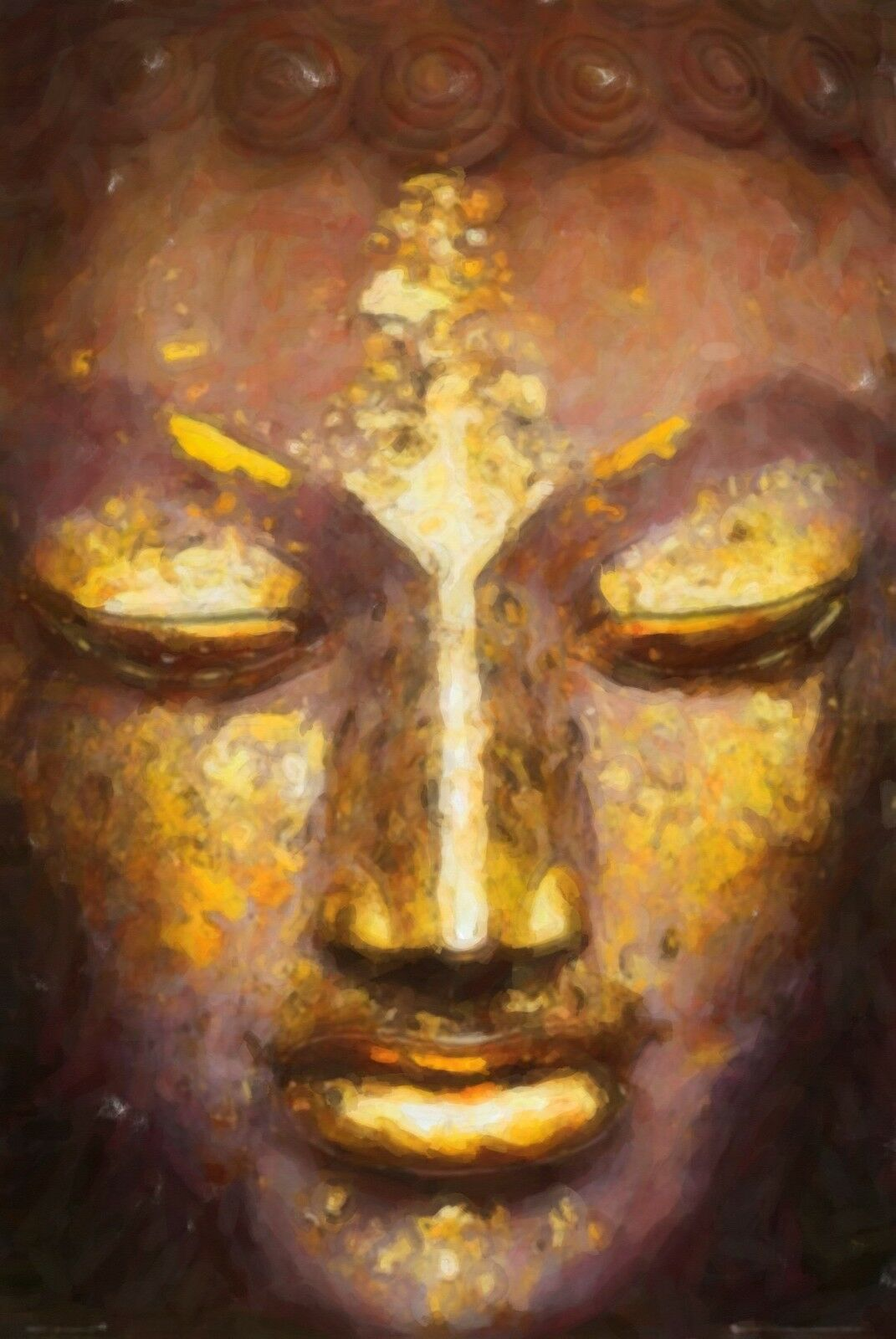 NEW MEDITATING BUDDHA PAINTING WALL ART ARTWORK PRINT POSTER