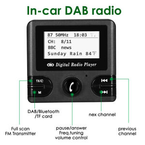 DAB-Car-Kit-Digital-Radio-Adapter-Receiver-FM-Transmitter-Antenna-LCD-Display