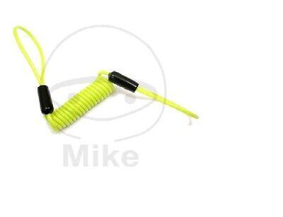 Motorrad Reminder Kabel 150cm für Roller Bremsscheibenschloss Gelb
