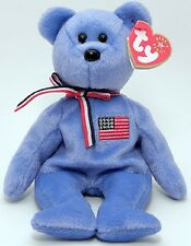 Ty Beanie Babies Beanies - America The American Flag Bear - New With Tag