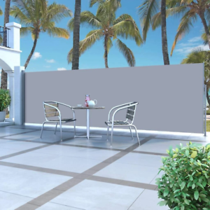 NEW Retractable Side Awning 160 x 500 cm Grey   eBay