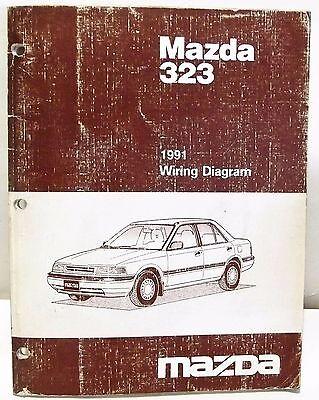 1991 Mazda 323 Wiring Diagram Schematics Shop Manual Booklet Ebay