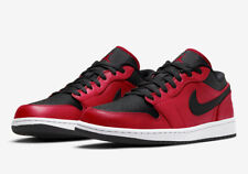 NEW WITH BOX Nike Jordan 1 Low Gym Red Black Pebbled GS 553560-605