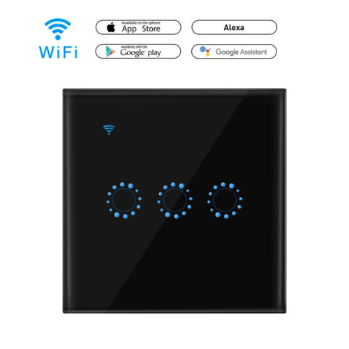 Sonoff 1 2 3 Gang Smart WiFi UK//EU RF Panel Touch Switch Smart APP Remote Timer
