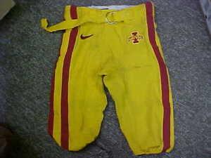 2009-2012 Iowa State Cyclones Game Used/Worn Gold Nike Football Pants Size-34