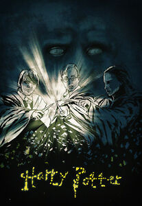 Harry Potter Movies Rowling Rare Gift Fanart Poster Film Signed By Artist Wall Ebay
