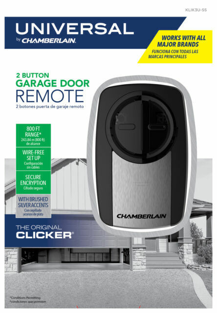 6 Pk Chamberlain Clicker Universal Garage Door Remote Control KLIK3U-BK2