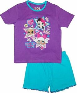 LOL Surprise Dolls Summer Short Pyjamas. Age 4-5 Years