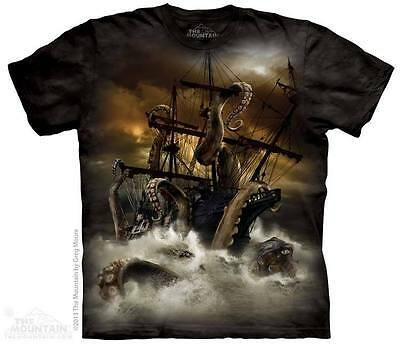 THE MOUNTAIN KRAKEN BOAT STORM WATER SEA SCARY DEATH OCTOPUS T TEE SHIRT S-5XL