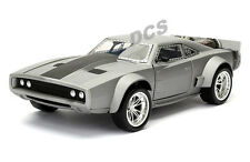 JADA FAST AND FURIOUS 8 DOM'S ICE DODGE CHARGER GREY 1/24 DIECAST MODEL  98291
