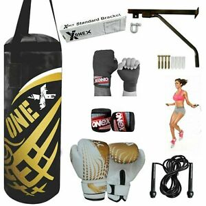 Heavy-Filled-Training-Gym-Punch-Bag-2ft-MMA-Boxing-Gloves-Junior-Kids-12-pcs-Set