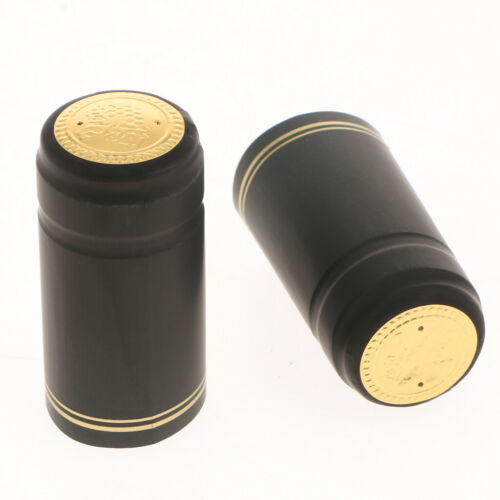 200pcs Wine Bottle Cover PVC Heat Shrink Capsules for Wine Making 30mm Dia.