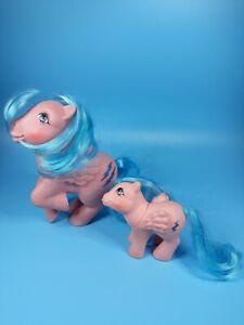 My-Little-Pony-MLP-G1-Vtg-MOMMY-amp-BABY-Mom-FIREFLY-Pegasus-Lightning-Bolt