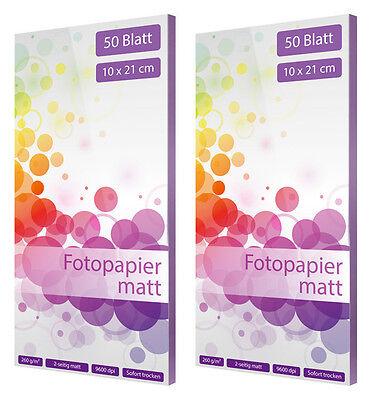 200 Blatt Fotopapier Fotokarten 10x15cm 210g//m² Fotocards glänzend weiß glossy