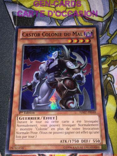OCCASION Carte Yu Gi Oh CASTOR COLONIE DU MAL HA07-FR048 1ère édition