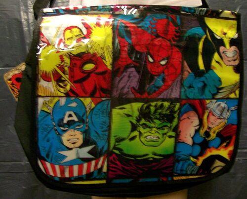 IRON-MAN CAP WOLVERINE HULK THOR Marvel Comics MESSENGER BAG- SPIDER-MAN