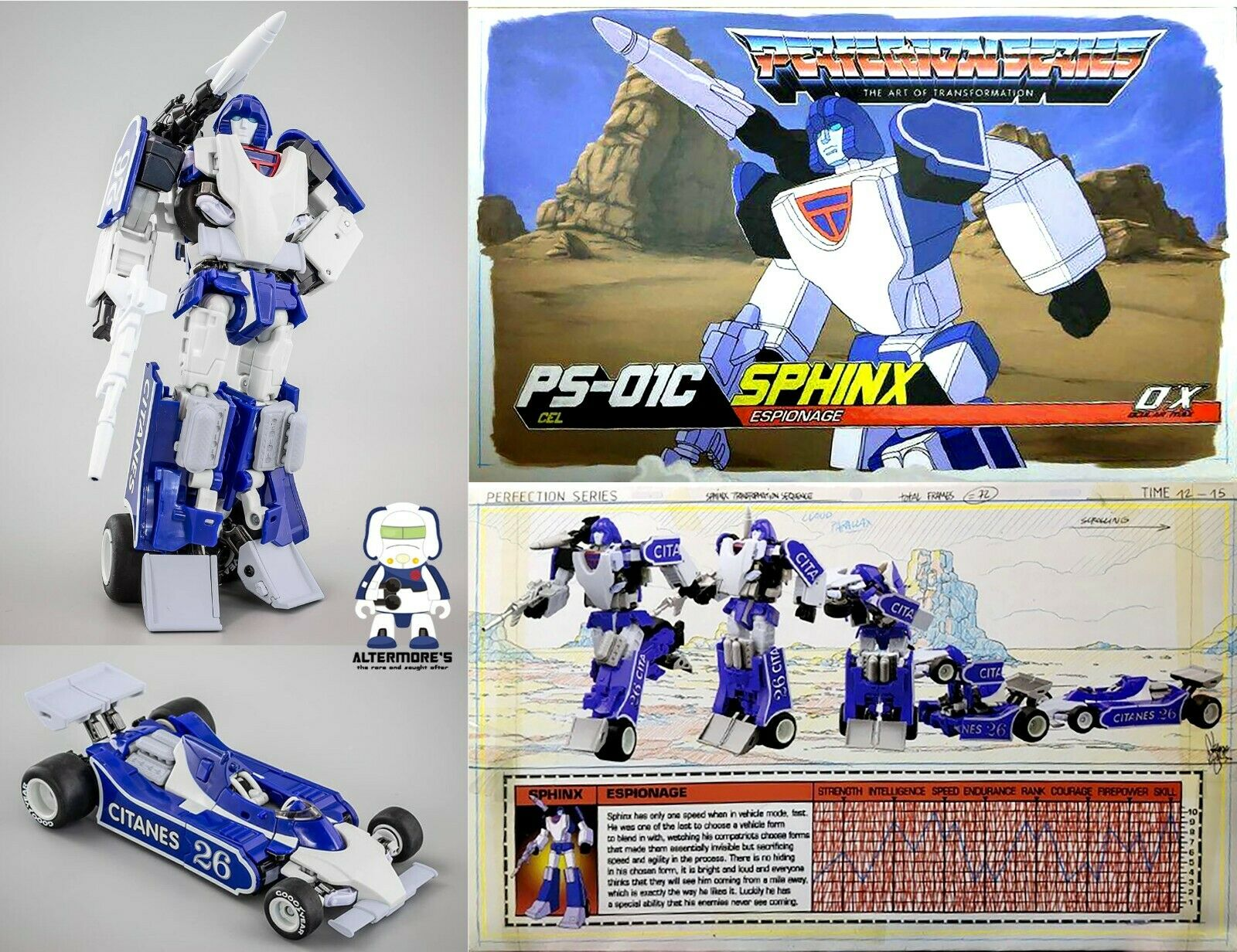 Transformers Mastermind Creations Ocular Max Sphinx PS-01C Cel aka MP Mirage New