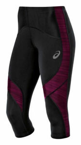 Medium Collant Leg Womens Asics Knee Balance Black Poliammide Stretch Magenta Nuovo 0qxYwxO