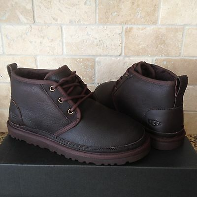 58a656255e1 UGG Neumel China Tea Leather Sheepskin Chukka Ankle Boots Shoes Size US 8  Mens | eBay