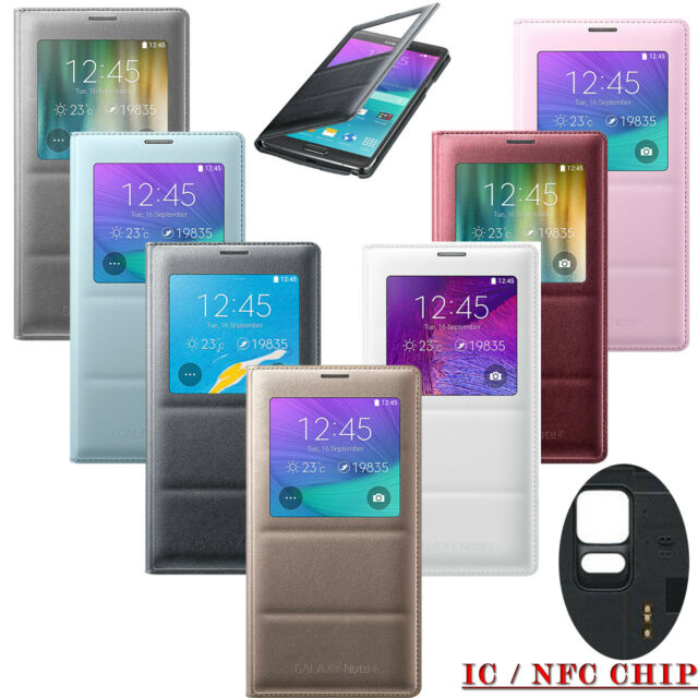 FLIP NFC CASE S-VIEW SVIEW AUTO SLEEP COVER FOR Samsung GALAXY NOTE 4 N910