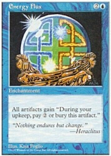 English 5th Edition MTG Magic 4x Energy Flux NM-Mint