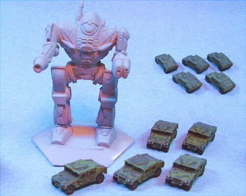 GHQ painted Humvees suitable for Battletech (5)