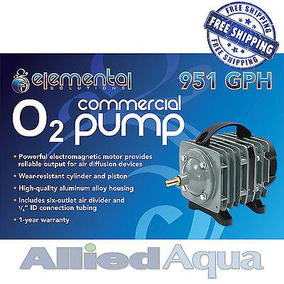 Elemental O2 Commercial Air Pump, 951 gph Aquaponics Aquarium Hydroponics  Pond