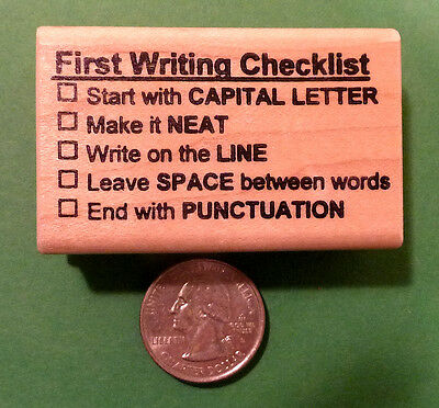 Checklist Graded for wood mounted teacher/'s rubber stamp