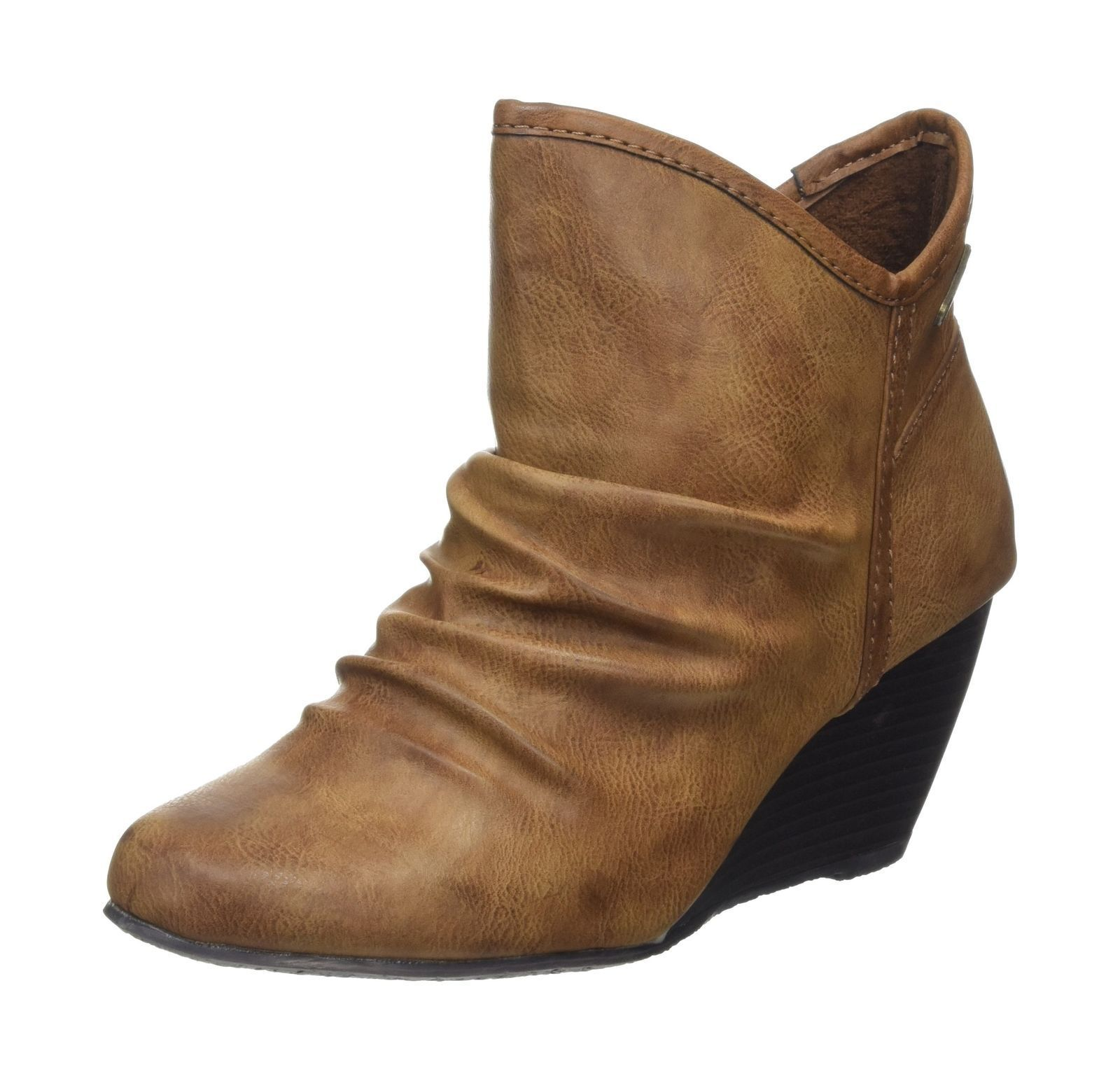 Womens Blowfish Billit Brown (Whiskey) Ankle Wedge Boots Size UK 3 EU 36