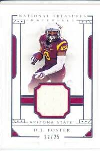 best loved bd368 9ed51 Details about dj foster game used gu jersey patch arizona state asu college  worn #/25 2016
