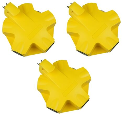 Master Electrician CT-043-1 Yellow 5 Outlet Outdoor Rated 5 Way Adapter 3