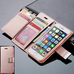 For-Samsung-S6-Edge-Flip-Fold-Leather-Wallet-Metal-Buckle-Slim-Phone-Cover-Case
